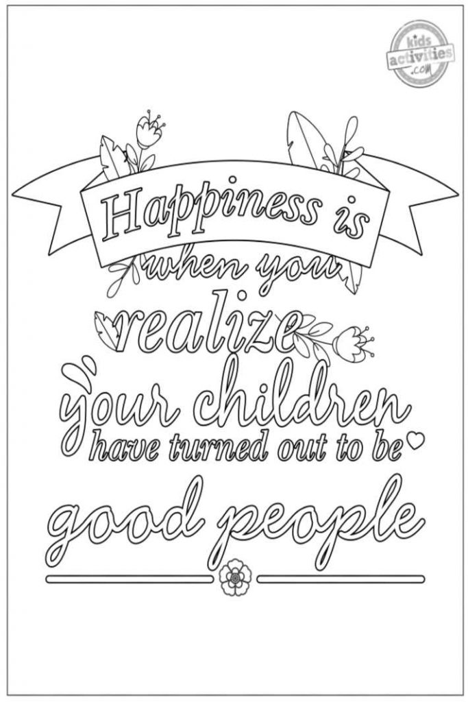 Parenting Quote Coloring Pages for Adults