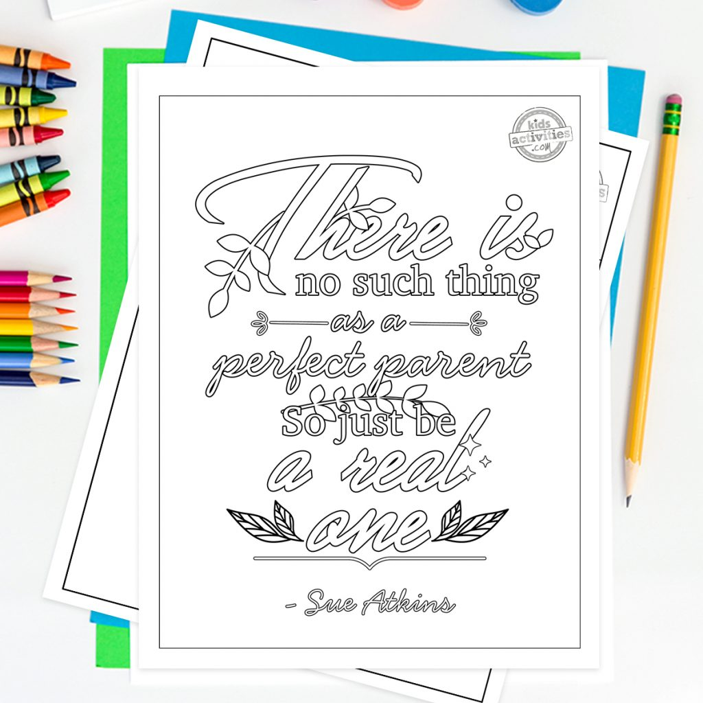 parenting quotes coloring pages for adults