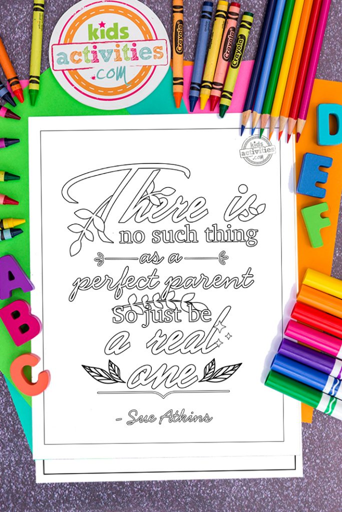 parenting quote coloring page