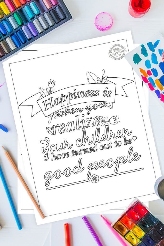 parenting quotes coloring pages