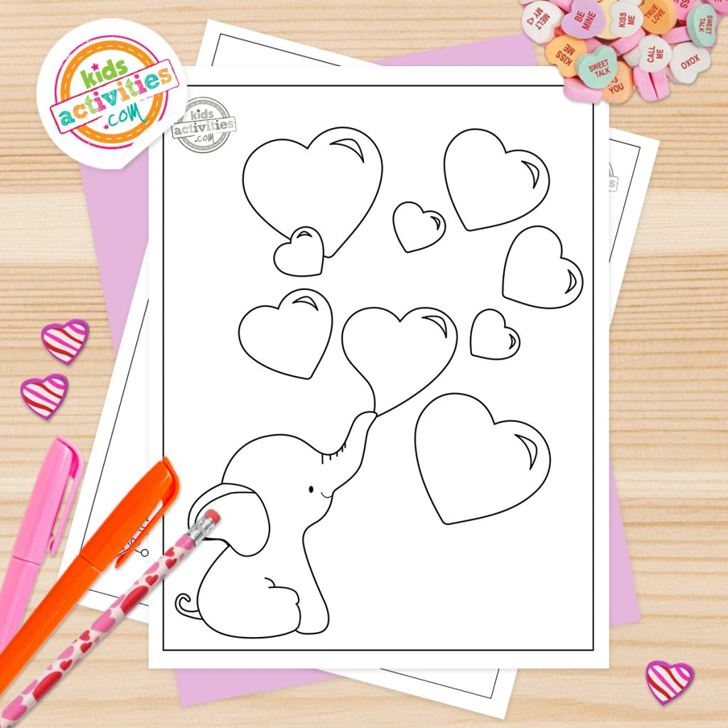Preschool Valentines Coloring Pages