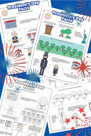 Presidents Day Fact Sheets and Presidents Day Coloring Pages for Kids - Kids Activities Blog - full color and coloring page pdf for president facts shown