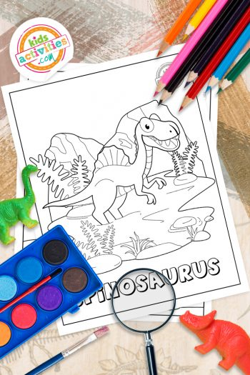 Spinosaurus Coloring Pages Vertical 1
