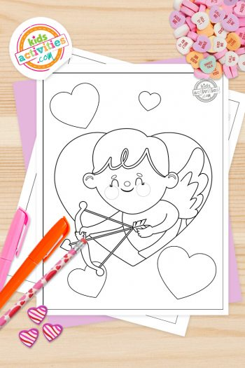 St Valentine Coloring Pages Vertical