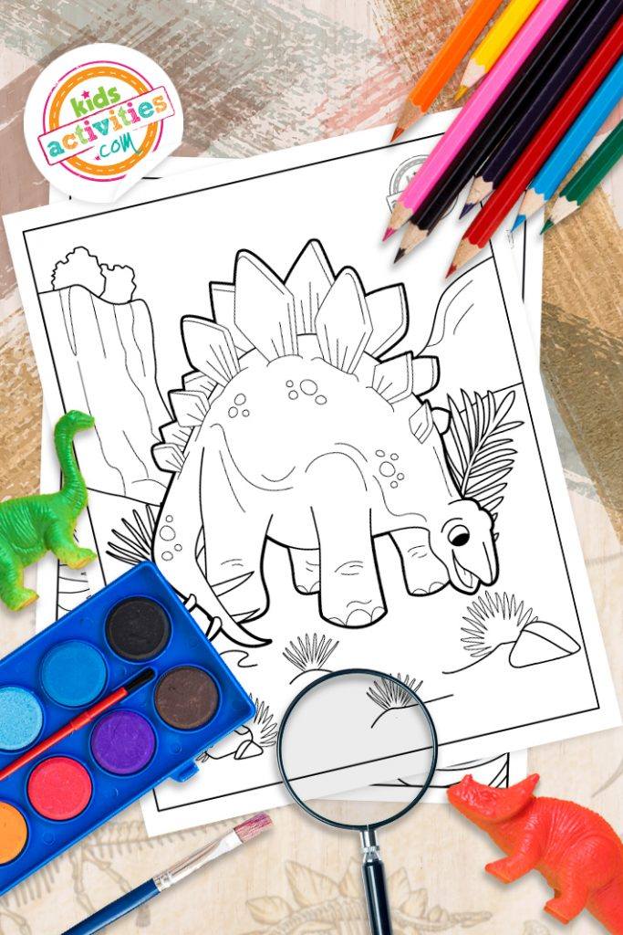 stegosaurus printable coloring pages
