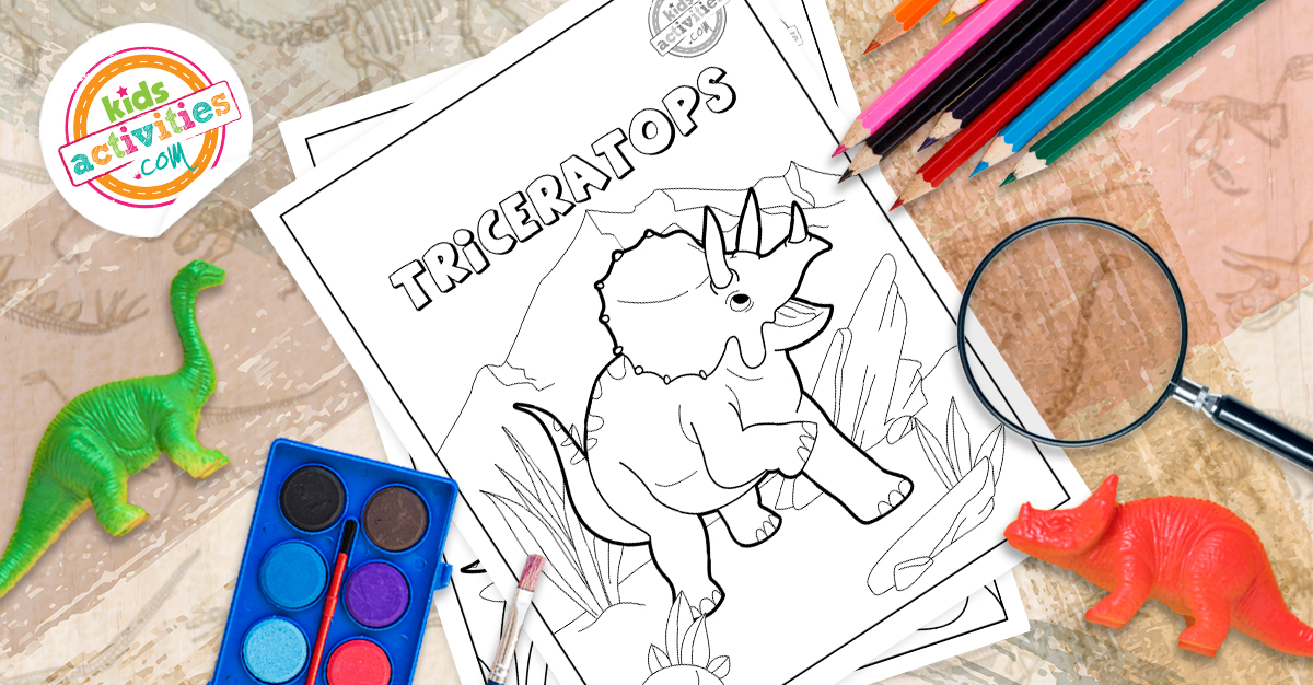 Free Triceratops Coloring Pages For Kids And Adults