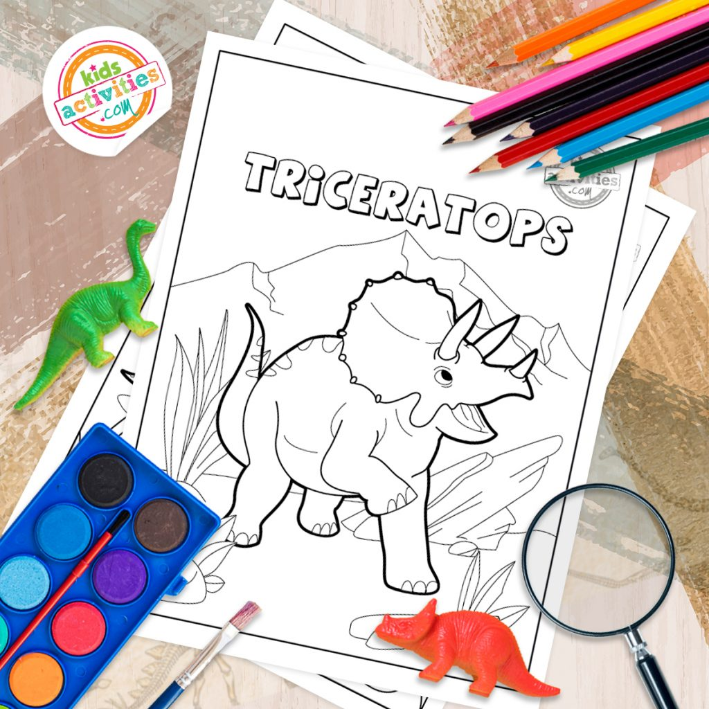 triceratops coloring page printable