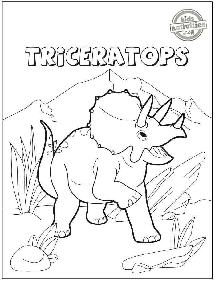 cute triceratops coloring page
