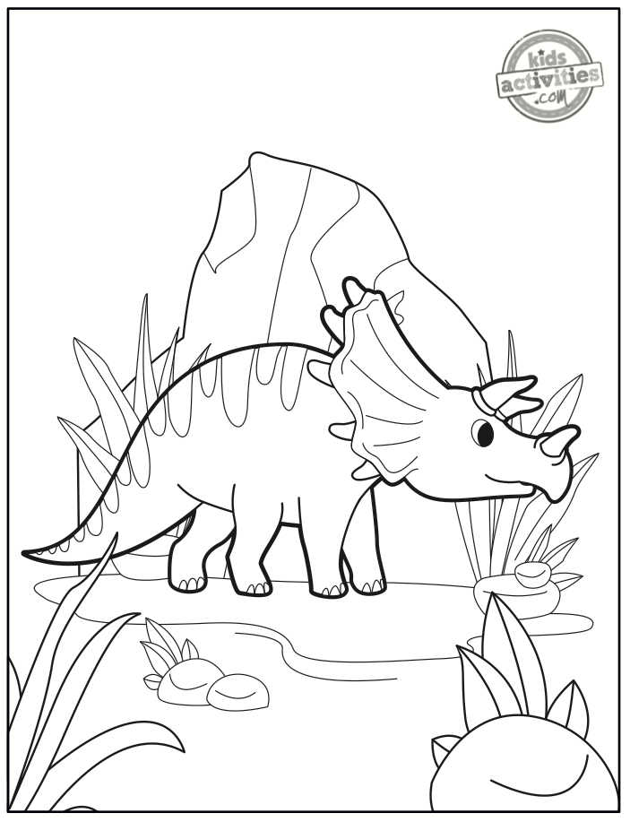 baby triceratops coloring page