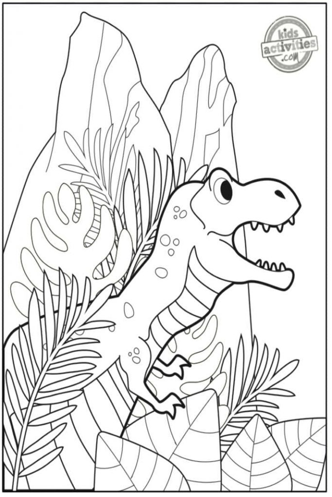 t. rex printable coloring page