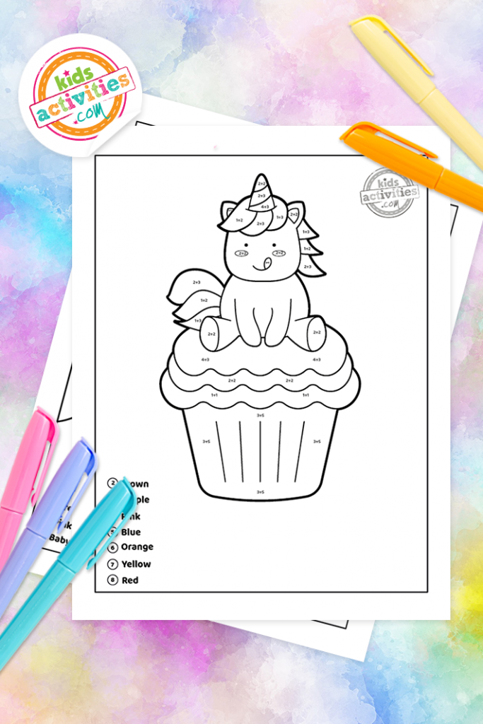 The Best Unicorn Color By Number Addition Worksheets