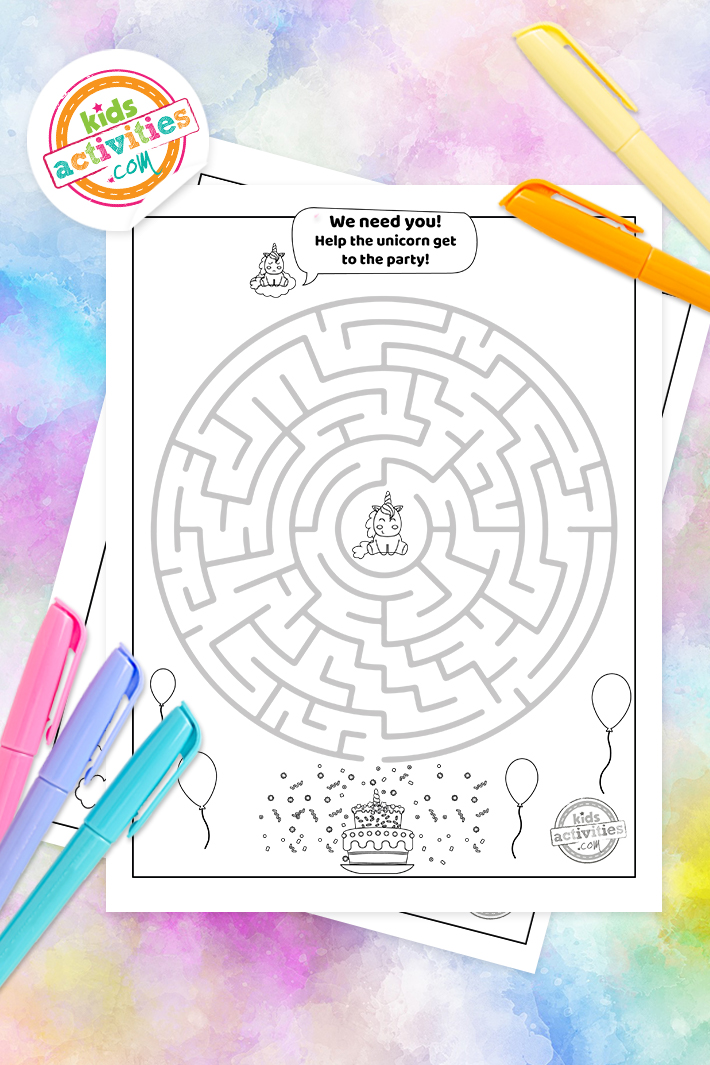 Here's How To Download Free Unicorn Mazes For Kids