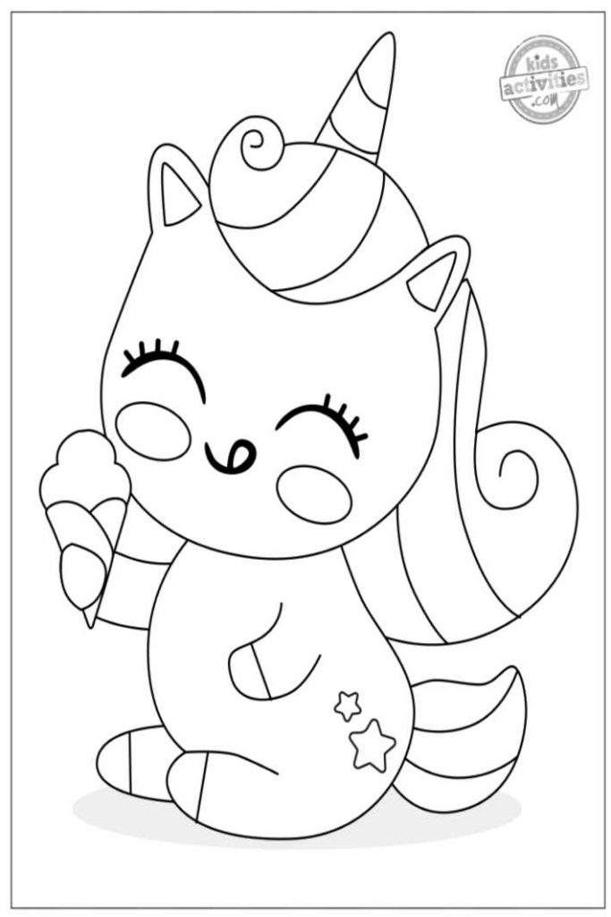 Magical Unicorn Coloring Pages
