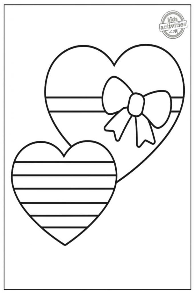 valentine heart coloring pages for toddlers