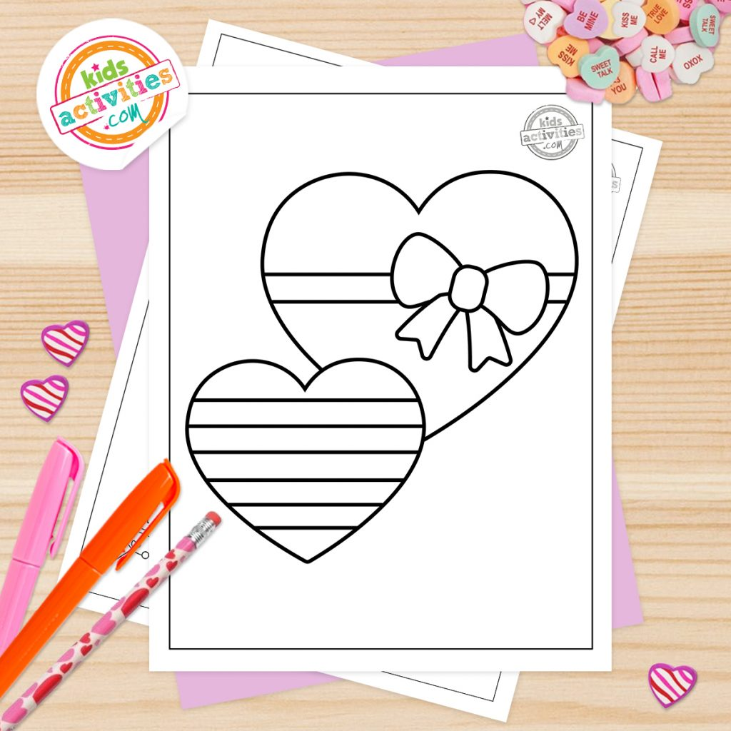 free Valentine coloring pages for toddlers