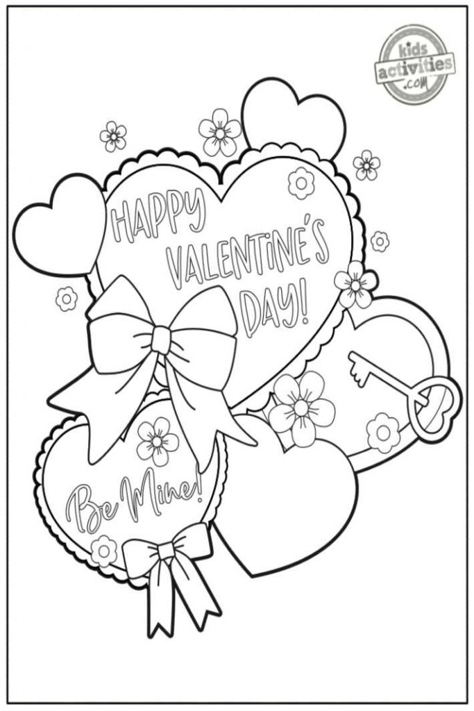 Be Mine Coloring Pages