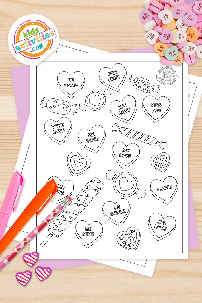 Sweetest Ever Valentine Heart Coloring Pages