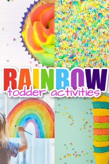 toddler rainbow activities - food craft and party ideas