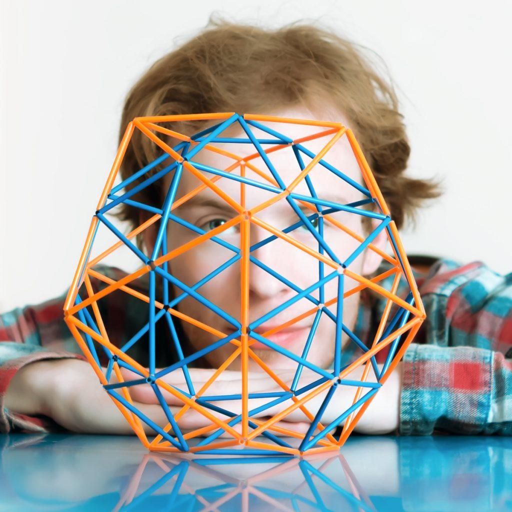 Best Science Fair Ideas for Kids - from elementary to high school - Kids Activities Blog - boy behind geo made of straws