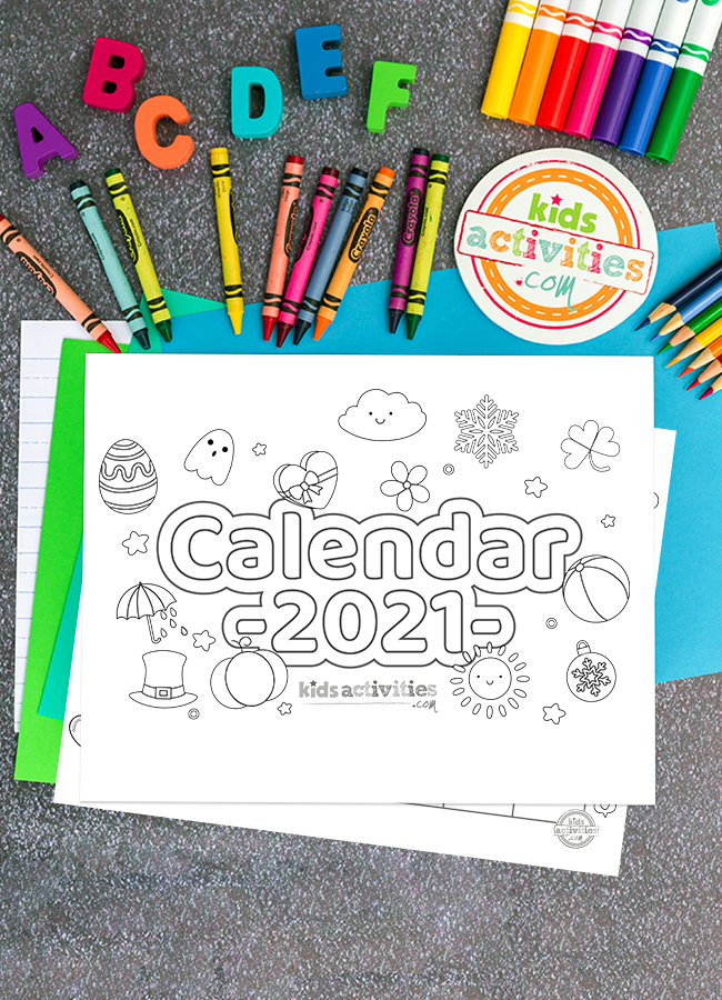Calendar 2021 Coloring Pages