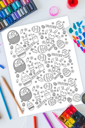 Easter Doodle Coloring Page