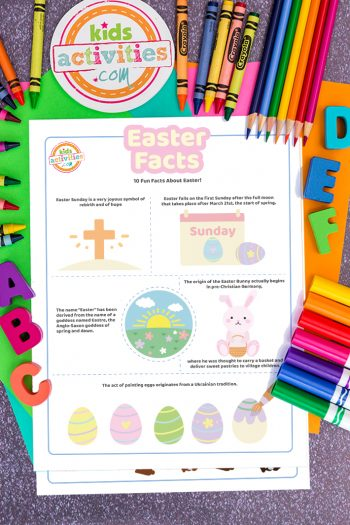 Easter Facts Coloring Pages Full Color