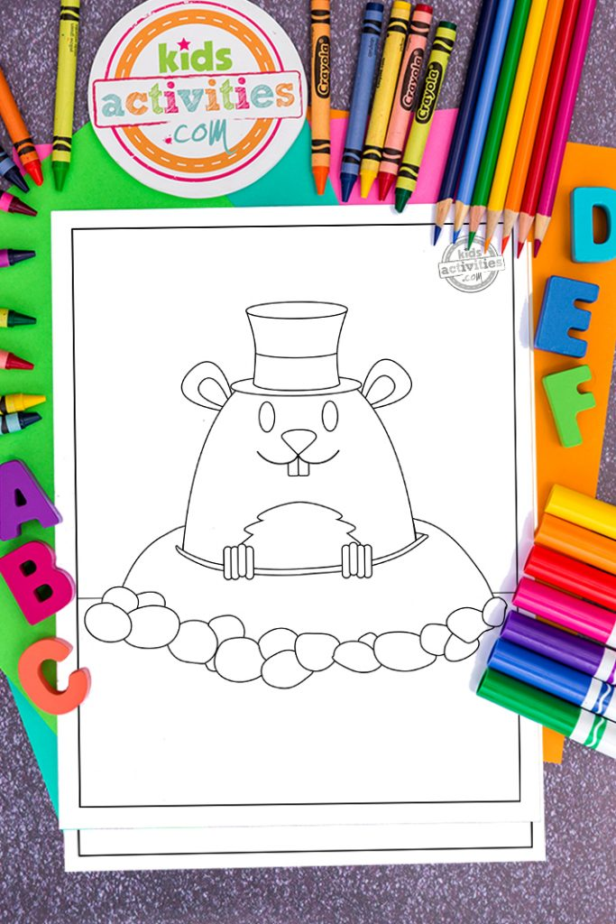 Happy Groundhog Day coloring pages