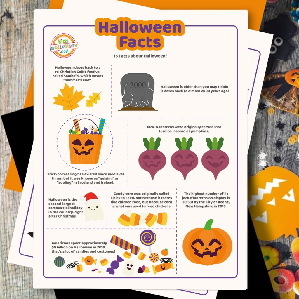halloween facts coloring pages