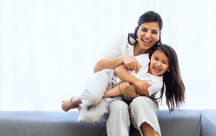 How to Stop Losing Your Patience as a Parent with Kids - Be a Patient Role Model - mom and daughter