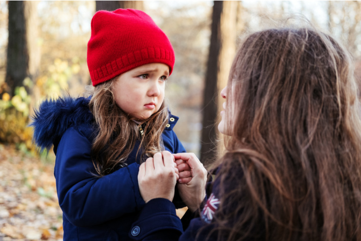 Change Your Perspective to Improve Patience with Kids - upset daughter and mother talking