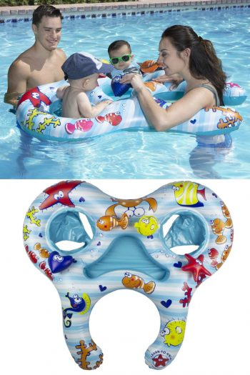 Pool float for adult and two kids images from Amazon - Kids Activities Blog
