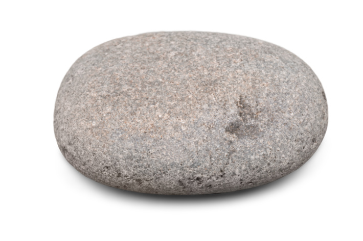 Smooth round rocks work best as painting surfaces.  This is an oval rock about 4 inches in diameter.