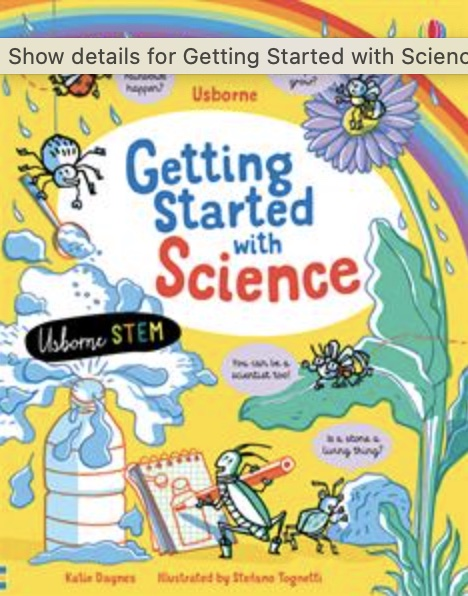 Usborne Getting Started With Science book cover art