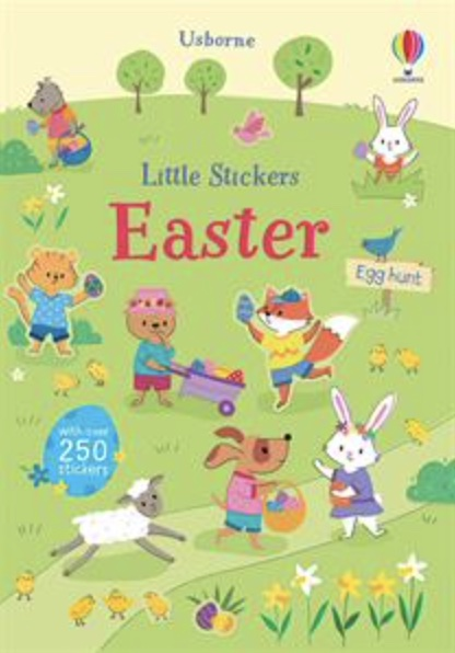 Usborne Little Stickers Easter book cover art