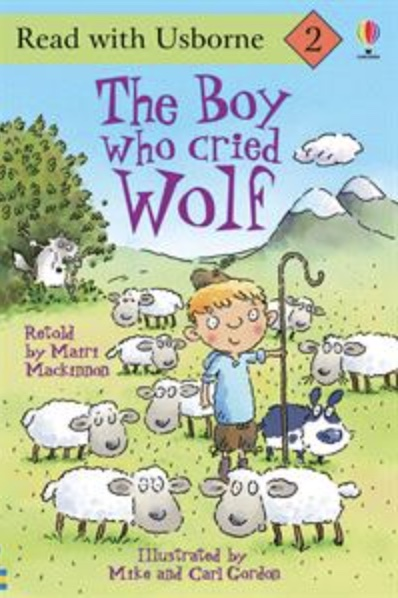 Usborne The Boy Who Cried Wolf book cover art