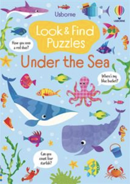 Usborne Under the Sea Look & Find puzzle book cover art
