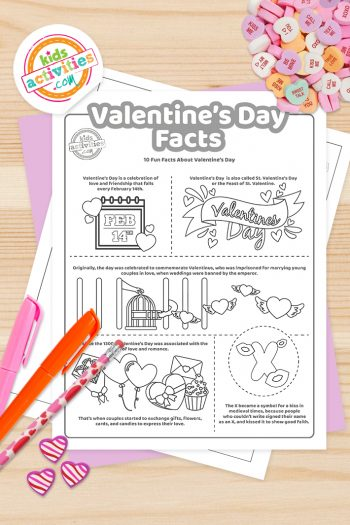 Valentines Day Facts Coloring Pages