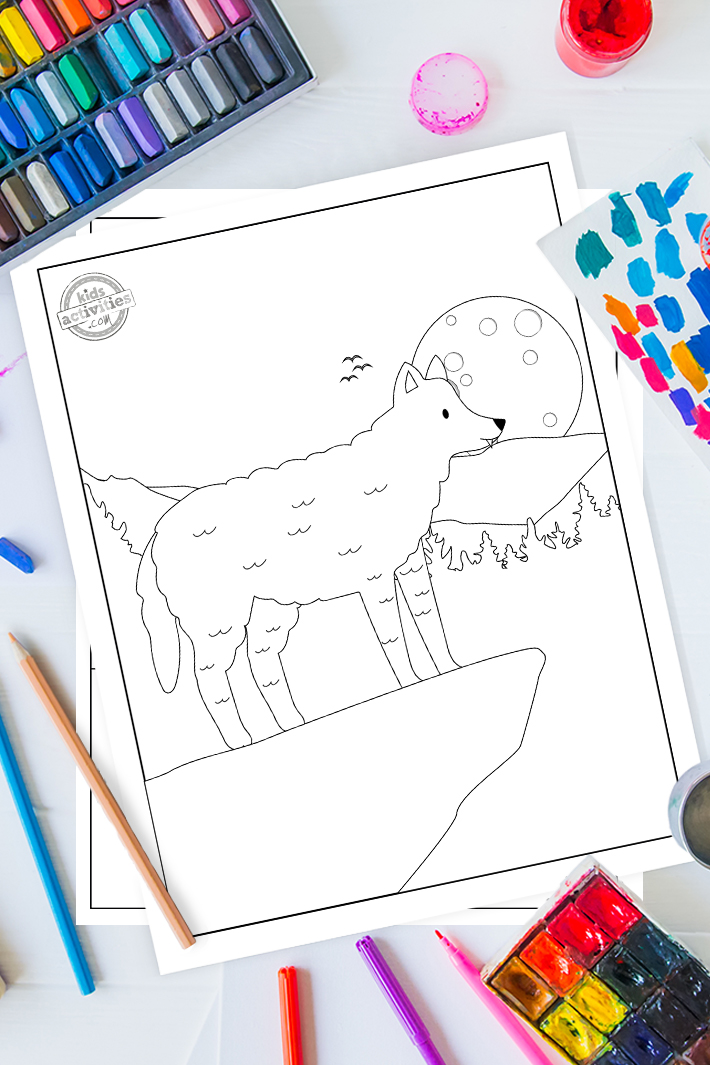 Free Howlingly Cute Wolf Coloring Pages