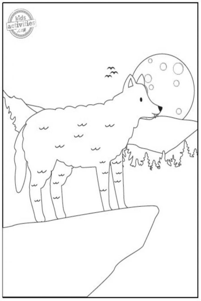 Free Howlingly Cute Wolf Coloring Pages Kids Activities Blog