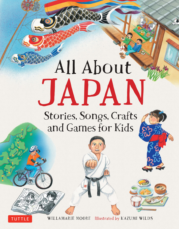 All About Japan Stories, Songs Crafts and Games for Kids - book cover shown - Kids Activities Blog