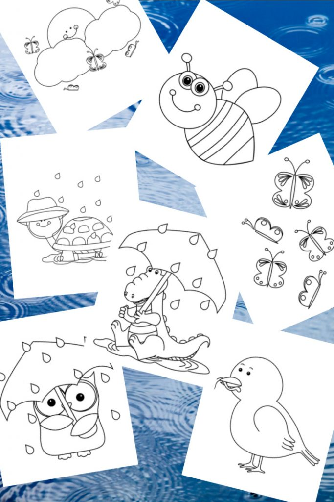 15 April Coloring Pages For Kids - Full Of Showers & Flowers Kids  Activities