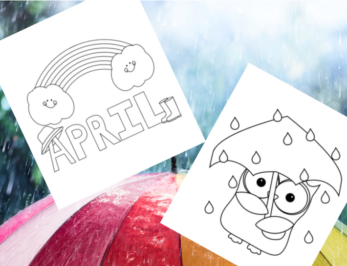 April coloring pages for kids - Kids Activities Blog