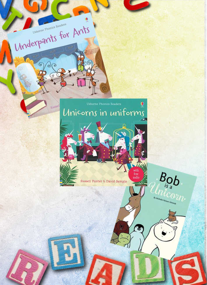 These are some of our favorite letter U books! Bob is a Unicorn, Uniforms for Unicorns, and Underpants for Ants!