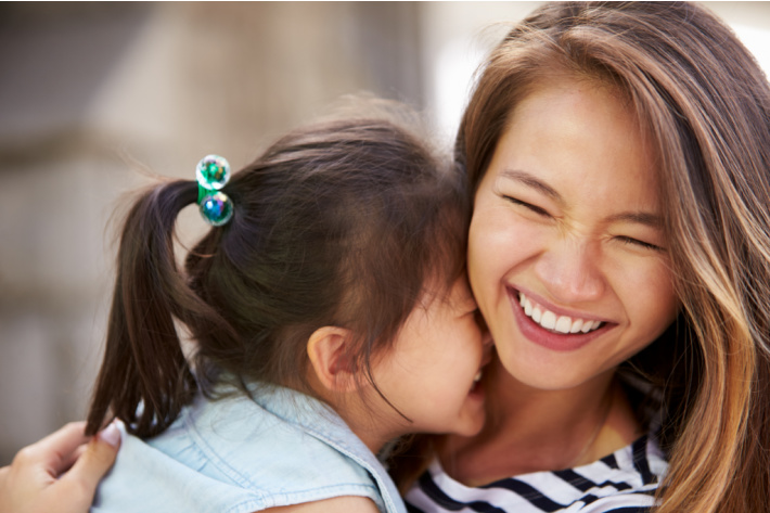 Good moms laugh at themselves - Kids Activities Blog - mom and child laughing