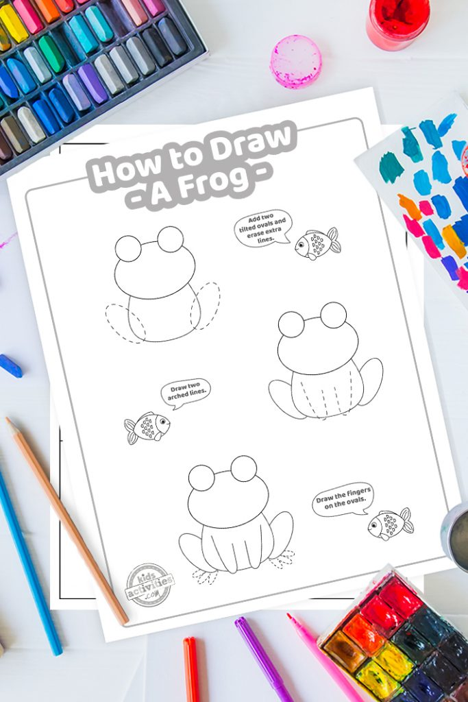 ho to draw a frog