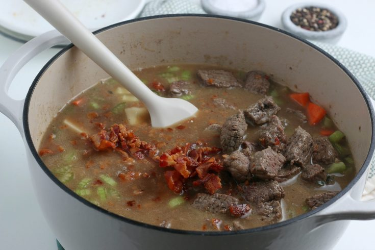 Easy Irish Beef Stew Recipe - Step give it a final stir and add salt and petter to taste
