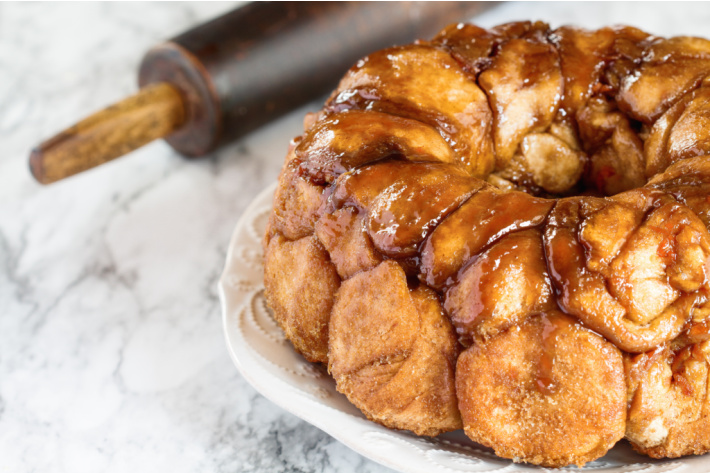 More Easy Bread Recipes to Try with Kids at Home in the Kitchen - monkey bread is shown - is monkey bread really BREAD?