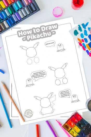 Pikachu How To Draw coloring page