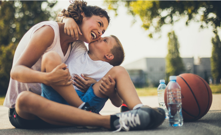 Things that good moms do - Kids Activities Blog - mom and child outside playing