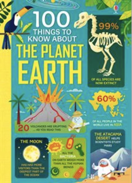 Usborne 100 Things to Know About the Planet Earth book cover art